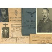 Flak Soldbuch grouping, General Göring Regiment, HJ Kreissieger, France 1944 POW