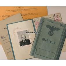 Luftnachrichten Soldbuch & Wehrpass