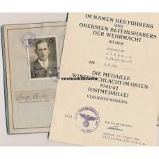 KIA Wehrpass 7.ID Russia 1942