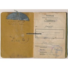 KIA Soldbuch with dogtag, Western Front 1945