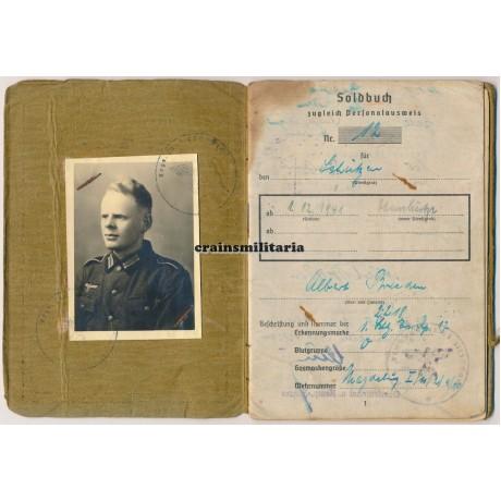 711.ID Normandy Soldbuch with NSKK Ausweis