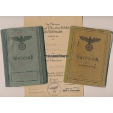 Landesschützen Soldbuch, Wehrpass, KVK2 Document