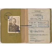 Stabsintendant officer Soldbuch