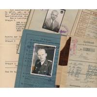 Flak officer Soldbuch & Wehrpass, Ruhrkessel 1945