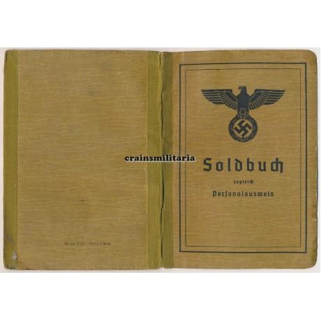 206.ID Soldbuch with 6 Nahkampftage