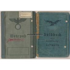 Soldbuch & Wehrpass group - tropical Luftwaffe