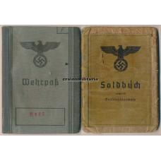 Vermessungs-Abteilung Soldbuch & Wehrpass, Stalingrad, Italy
