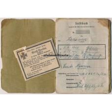 KIA Leutnant Soldbuch - 58.ID