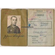 Kampfgruppe Jürgens Soldbuch, Karlsbad 1945