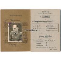 Oberzahlmeister Soldbuch - Oberrhein 1944