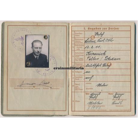 93.ID Wehrpass, France, Estonia