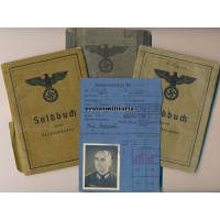 Major Soldbuch & Wehrpass, Norway 1940 EK2