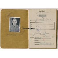 Endkampf Soldbuch 85.ID, Leipzig 1945 WIA