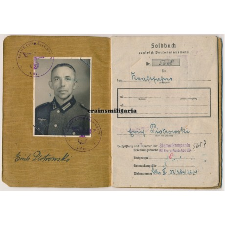 24.Pz.Div. Soldbuch, Poland 1945