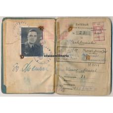 Flak officer Soldbuch, 1940 EK2, Italy 1944