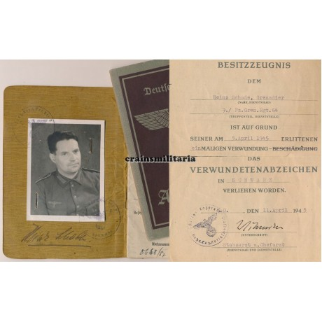 16.Pz.Div. Soldbuch grouping WIA 1945