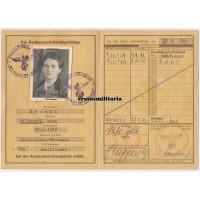 Female Reichsarbeitsdienstpass