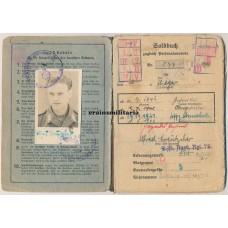 Pilot Soldbuch grouping KIA Nürnberg 1945