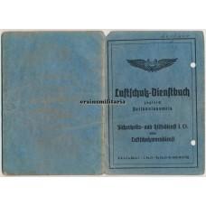 Luftschutzpolizei Dienstbuch Hamburg