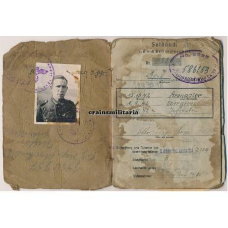 245.ID Soldbuch, Normandy, Holland POW