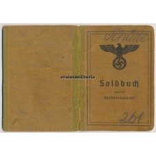 DAK Officer POW Soldbuch