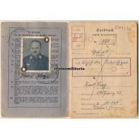 Luftwaffe Soldbuch - died in hospital 1945