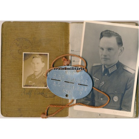Officer Soldbuch grouping, Endkampf WIA