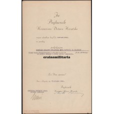 Croatian award document to Panzer soldier