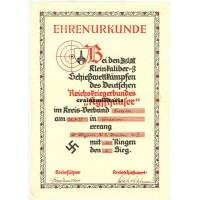 Kyffhäuserbund shooting award document