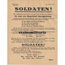 Propaganda leaflet 1. Gebirgs-Division France 1940
