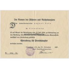 ***SOLD*** Ehrenkreuz, Wound badge documents