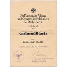 Award document group Leutnant 262.ID, Italy 1945