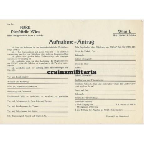 NSKK Application form Vienna