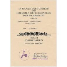 Pionier award docs, Aachen 1944
