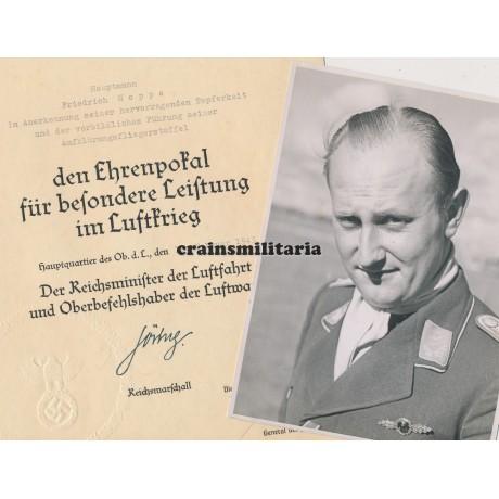 Ehrenpokal award document grouping Aufklärer