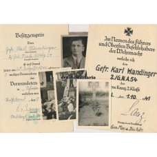 KIA Gebirgsjäger Award docs and photos