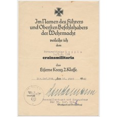 36.ID EK2 Document France 1940