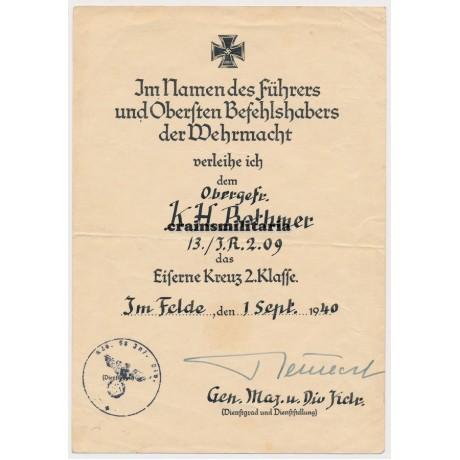 58.ID EK2 Document France 1940