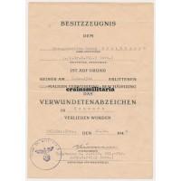schwere Granatwerfer wound badge document
