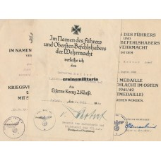 Kradmelder award document grouping France 1940