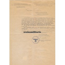 Letter on executed soldier Berlin 1945