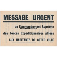 Allied propaganda leaflet Normandy 1944