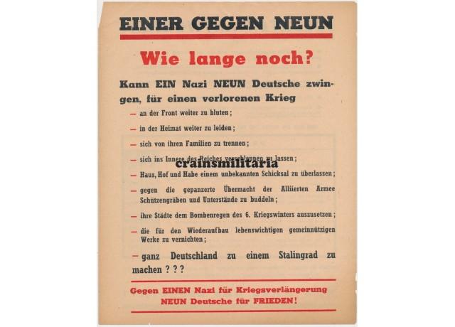 Allied propaganda leaflet - Einer gegen Neun