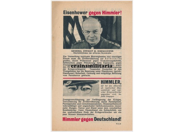 Allied propaganda leaflet - Eisenhower gegen Himmler!