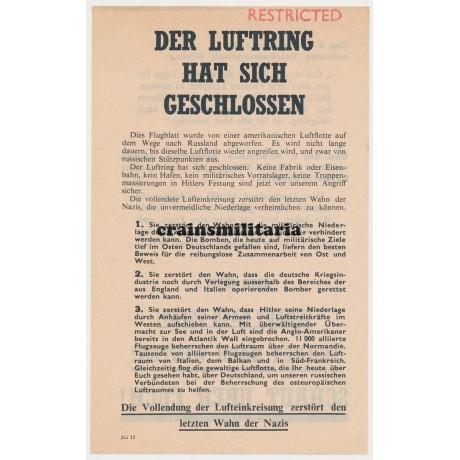 Allied propaganda leaflet - Der Luftring hat sich geschlossen