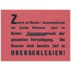 Allied propaganda leaflet - Die Russen sind in Oberschlesien!
