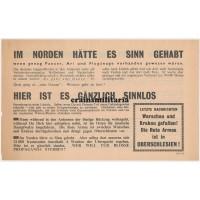 Allied propaganda leaflet - Strasbourg 1945