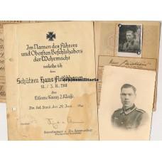 Photo album & EK2 Document, 95.ID, Stalag VB