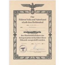 U-465 Uboot Heldentod document