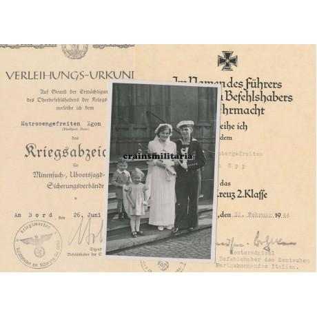 Kriegsmarine award document grouping, Italy